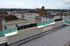 GRP architectural and chimney & roof coping plinth project