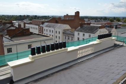 GRP architectural  chimney and coping plinth project